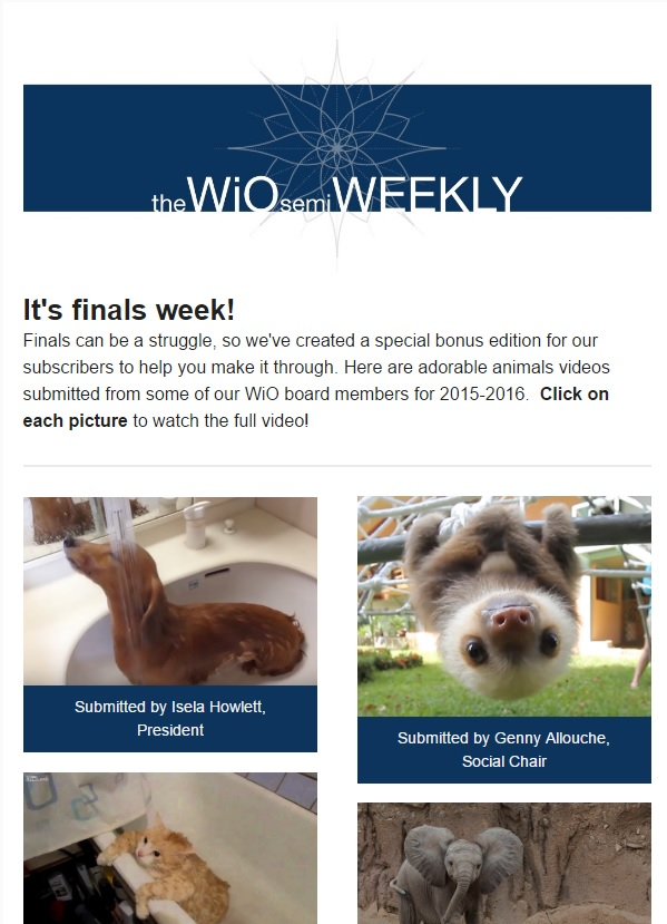 Preview of Wio (semi) Weekly Newsletter